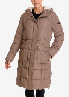 Lucky Brand Faux-Fur-Lined Hooded Puffer Coat