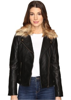 Lucky Brand Faux-Fur Moto Jacket
