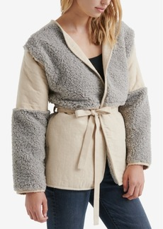 Lucky Brand Faux-Fur Paneled Coat