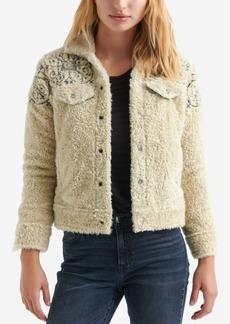 Lucky Brand Faux-Fur Trucker Jacket