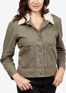Lucky Brand Faux-Sherpa-Collar Jacket