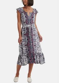 Lucky Brand Felecia Smocked Midi Dress