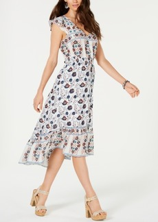Lucky Brand Felice Cotton Printed Flounce Dress