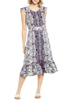 Lucky Brand Felicia Tie Waist Midi Dress