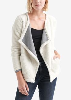 Lucky Brand Fleece Cascade-Collar Jacket