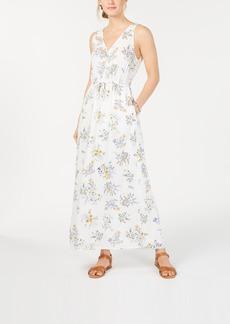 Lucky Brand Flora Printed V-Neck Maxi Dress