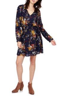 Lucky Brand Floral Blouson Mini Dress