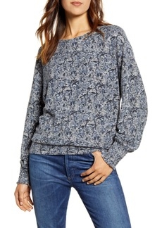 Lucky Brand Floral Cloud Jersey Top