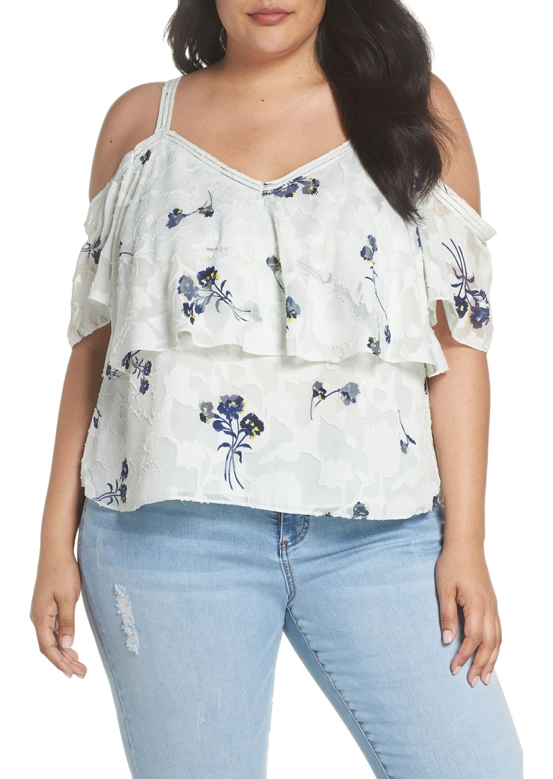 4f472c997150fc Lucky Brand Lucky Brand Floral Cold Shoulder Top (Plus Size)