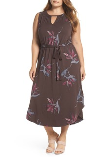 Lucky Brand Floral Halter Dress (Plus Size)