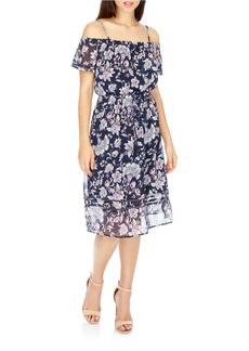 LUCKY BRAND Floral Off-the-Shoulder Dress