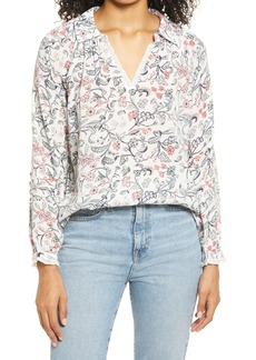 Lucky Brand Floral Popover Shirt