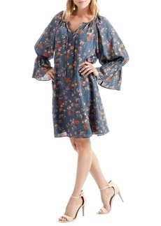 Lucky Brand Floral-Print Bell-Sleeve Shift Dress