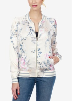 Lucky Brand Floral-Print Bomber Jacket