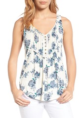 Lucky Brand Floral Print Jersey Tank