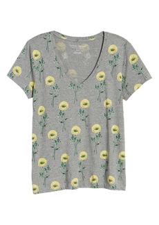 Lucky Brand Floral Print T-Shirt