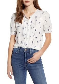Lucky Brand Floral Short Sleeve Top