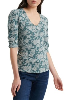Lucky Brand Floral V-Neck Top
