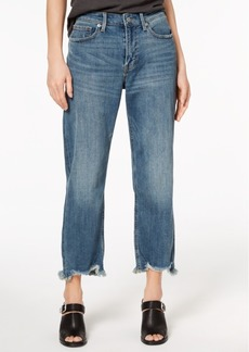 Lucky Brand Frayed Straight-Leg Jeans