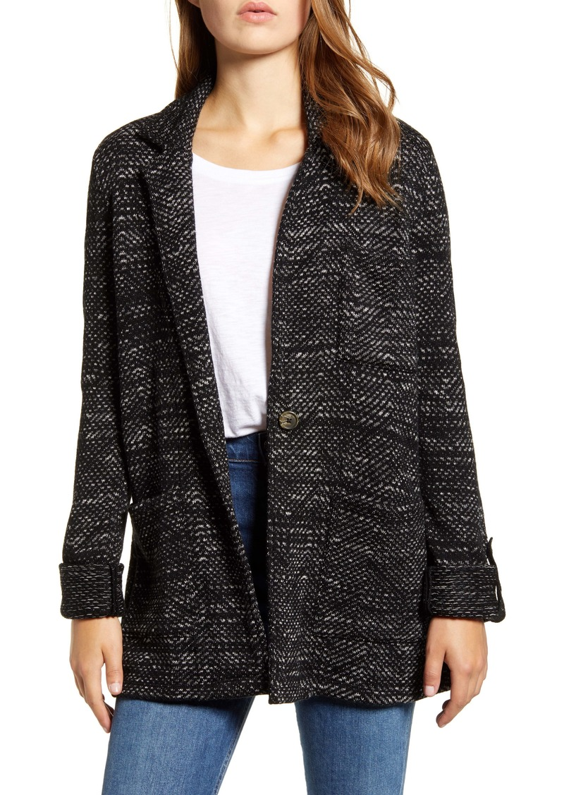Lucky Brand French Jacquard Knit Work Coat