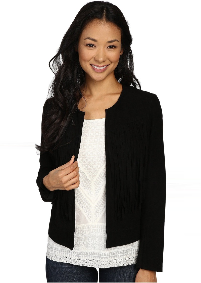 Lucky Brand Fringe No Closure Jacket