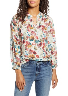 Lucky Brand Gemma Smocked Yoke Blouse