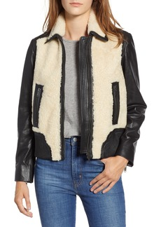 Lucky Brand Faux Shearling Leather Jacket
