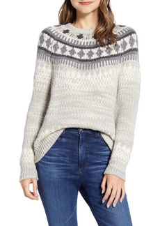 Lucky Brand Geo Pattern Sweater