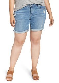 Lucky Brand Georgia Roll Cuff Denim Shorts (Plus Size)