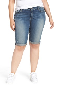 Lucky Brand Ginger Denim Roll Cuff Bermuda Shorts (Plus Size)