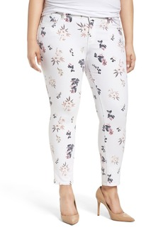 Lucky Brand Ginger Floral Print Skinny Jeans (Plus Size)
