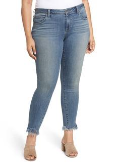 Lucky Brand Ginger Fringed Hem Skinny Jeans (Plus Size)