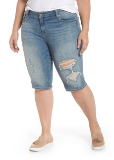 Lucky Brand Ginger Ripped Denim Bermuda Shorts (Indian Hills) (Plus Size)