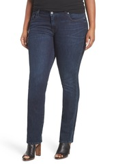 Lucky Brand 'Ginger' Stretch Straight Leg Jeans (Plus Size)