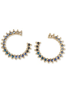 Lucky Brand Gold-Tone Pave Ombre Open Circle Stud Earrings