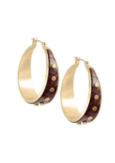 Lucky Brand Goldtone Rivet Hoop Earrings