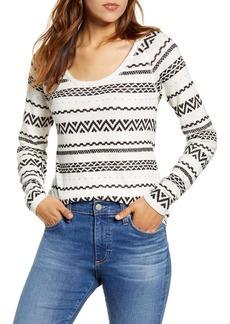 Lucky Brand Graphic Print Cotton Thermal Top