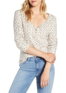 Lucky Brand Graphic Print Thermal Cotton Top