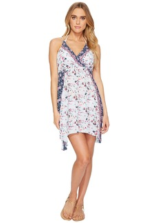 Lucky Brand Gypsy Floral Faux Wrap Swing Dress Cover-Up