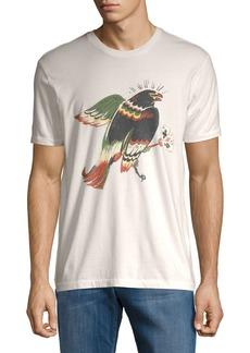 Lucky Brand Hawk On Cross Cotton Tee