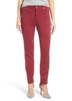 Lucky Brand 'Hayden' Colored Stretch Skinny Jeans (Merlot)
