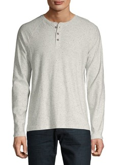 Lucky Brand Heathered Henley Shirt