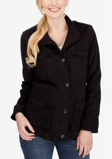 Lucky Brand High-Collar Zippered Jacket