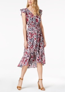 Lucky Brand High-Low Floral-Print Fit & Flare Dress