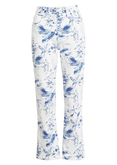 Lucky Brand High Waist Crop Mini Bootcut Jeans (Blue Floral)