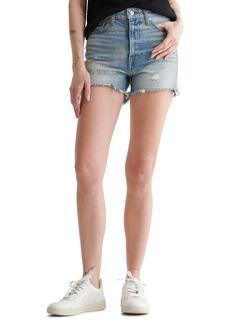 Lucky Brand High Waist Cut Off Denim Shorts (Whirlwind)