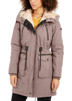 Lucky Brand Hooded Faux-Fur-Trim Anorak Jacket