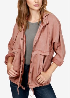 Lucky Brand Hooded Twill Jacket