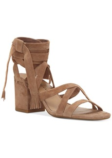 Lucky Brand Idalina Lace-Up Block-Heel Sandals Women's Shoes