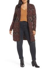 Lucky Brand Ikat Wool Blend Cardigan (Plus Size)
